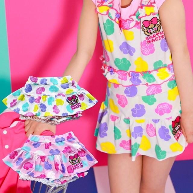 【セール SALE】EARTHMAGIC(アースマジック) シルエットマフィー総柄スカート