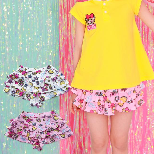 【セール SALE】EARTHMAGIC(アースマジック) ピクニックマフィー総柄スカート
