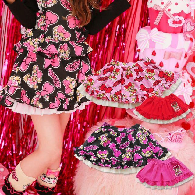 【セール SALE】EARTHMAGIC(アースマジック) リボンマフィー総柄リバーシブルスカート