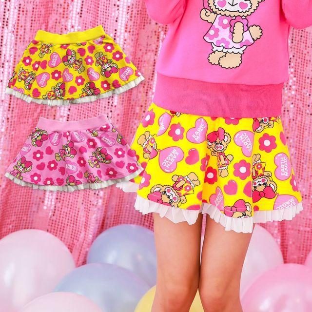【セール SALE】EARTHMAGIC(アースマジック) バルーンマフィー総柄スカート