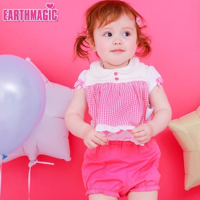 アースマジックベビー EARTHMAGIC BABY マフィー刺繍入り襟付きスタイ&ブルマセット ビブ