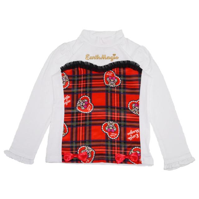 アースマジック EARTHMAGIC タータンチェック マフィー 総柄 重ね着風 長袖 Tシャツ 2020秋冬