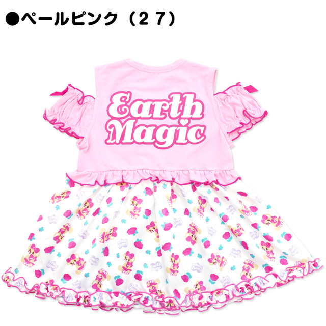 アースマジック EARTHMAGIC Aライン 肩あき Tシャツ スウィートローズマフィー 総柄 2021春夏