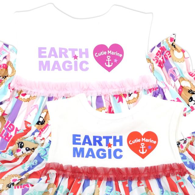 アースマジック EARTHMAGIC 総柄AラインTシャツ マリーンマフィー チュニック 2021春夏