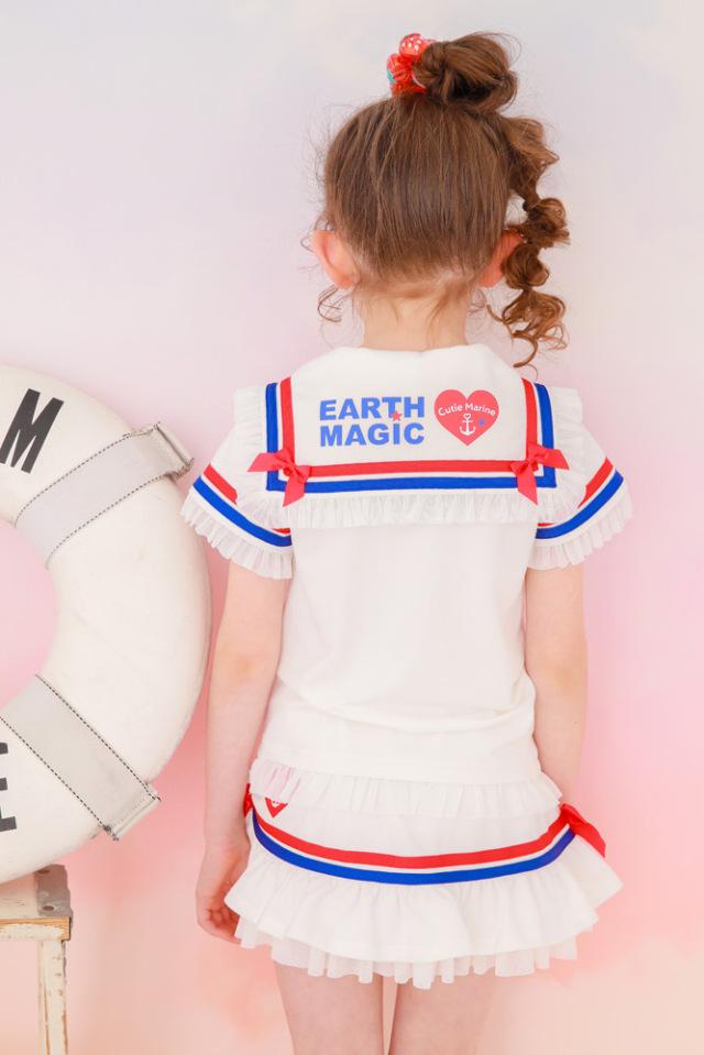 アースマジック EARTHMAGIC セーラーカラーTシャツ マリーンマフィー チュールフリル 2021春夏
