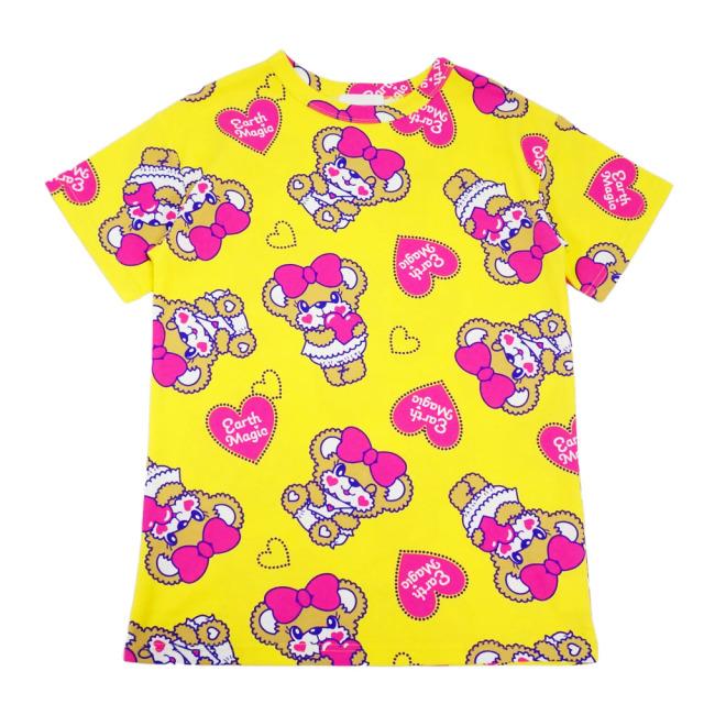 アースマジック EARTHMAGIC Love letter Maffy 総柄 Tシャツ 2020春夏