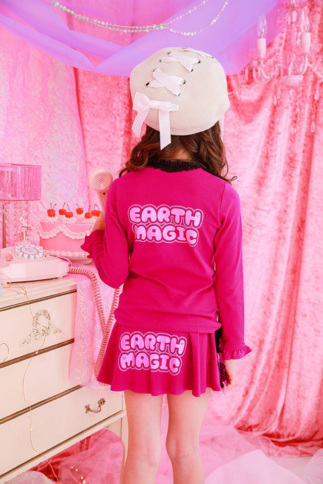 アースマジック EARTHMAGIC マフィー&ユニコーンプリントスカート インナーパンツ付 2021秋冬 ビビッドピンク ラベンダー