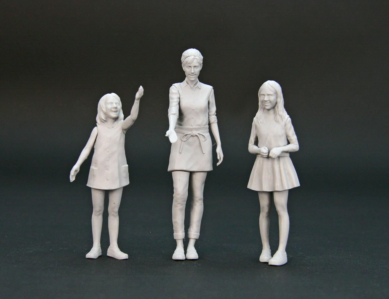 【25016】1/24 3 girls figuru set