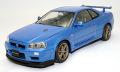 【24016】1/24 NISSAN SKYLINE GT-R (BNR 34) VspecII (BLUE)