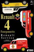 ポイント2倍!【25012】1/24 Renault 4 Fourgonnette Service Car 【PLASTIC KIT】