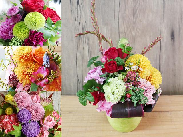 和風アレンジメント(M)~和花材を使ったアレンジメント~誕生日・母の日などお祝いギフトにおすすめ【送料一律1100円(※一部地域を除く)】
