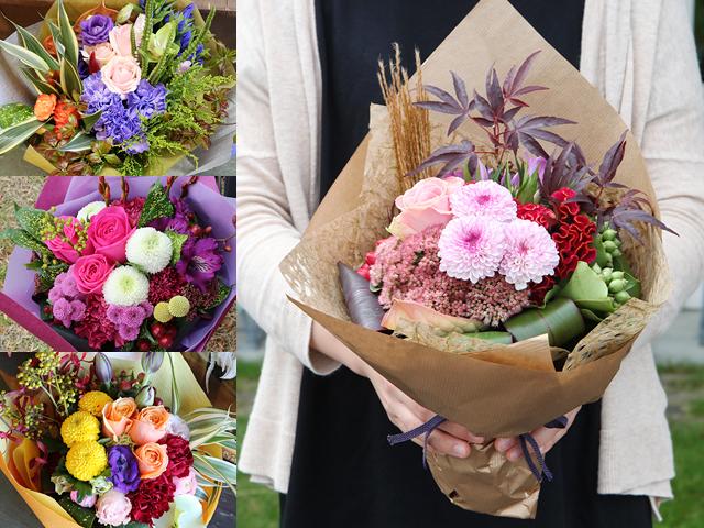 和風花束(ブーケ風・M)~和花材を使った花束~誕生日・母の日などお祝いギフトにおすすめ【送料一律1100円(※一部地域を除く)】