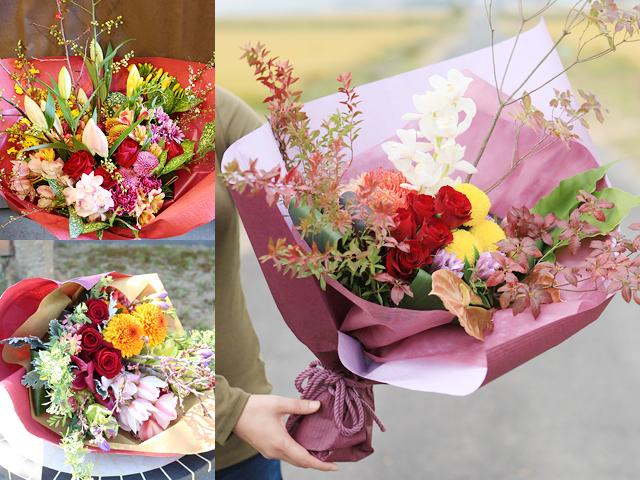 和風花束(L)~和花材を使った花束~誕生日・母の日などお祝いギフトにおすすめ【送料一律1100円(※一部地域を除く)】