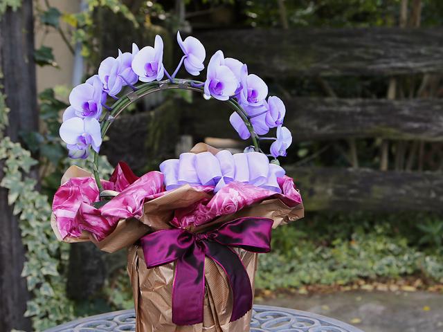 【9/19~9/28到着限定】紫のミディ胡蝶蘭(パープルエレガンス)[リング型]松浦園芸【送料無料】|誕生日・記念日・お祝いなどの贈り物におすすめの珍しいフラワーギフト