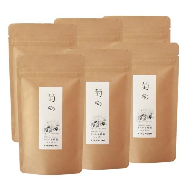 きくいも精製シュガー【菊のの】菊芋シュガー100g×6袋 有機菊芋100%由来の穏やかな甘みの天然甘味料 イヌリン90g含有