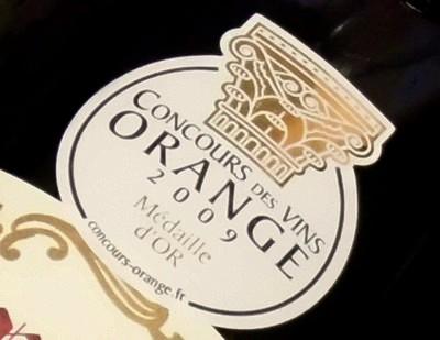 コンクール・デ・ヴァン・オランジュ2009金メダル