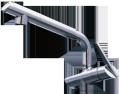 タカギ シングルレバー混合栓(ワンホール型)カートリッジ付 JK102MN-1NBF