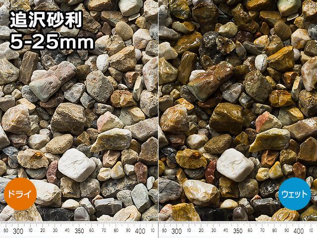 追沢砂利(日本・岐阜県産) 18kg 5-25mm