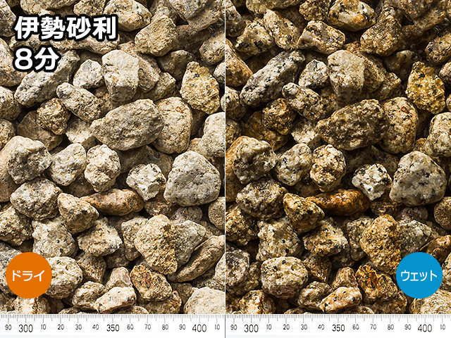 伊勢砂利(日本・三重県産) 20kg 8分