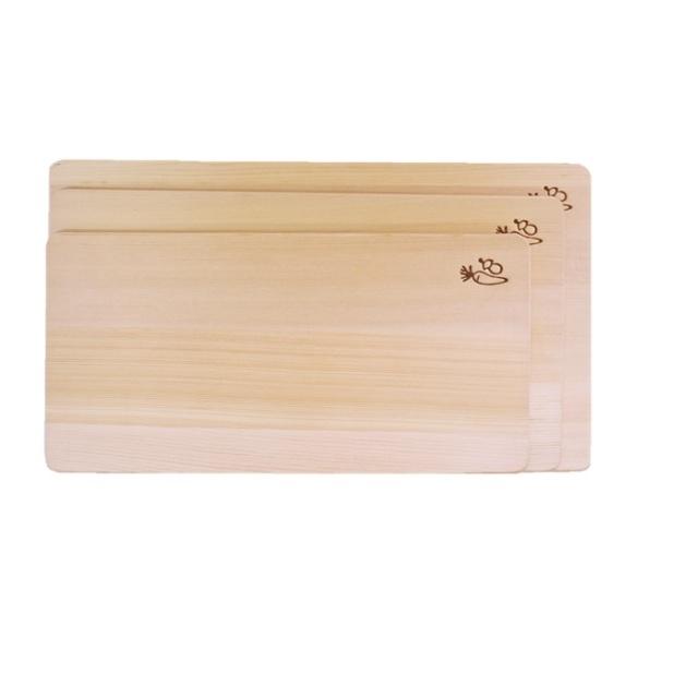 青森ひば 薄型まな板 正面