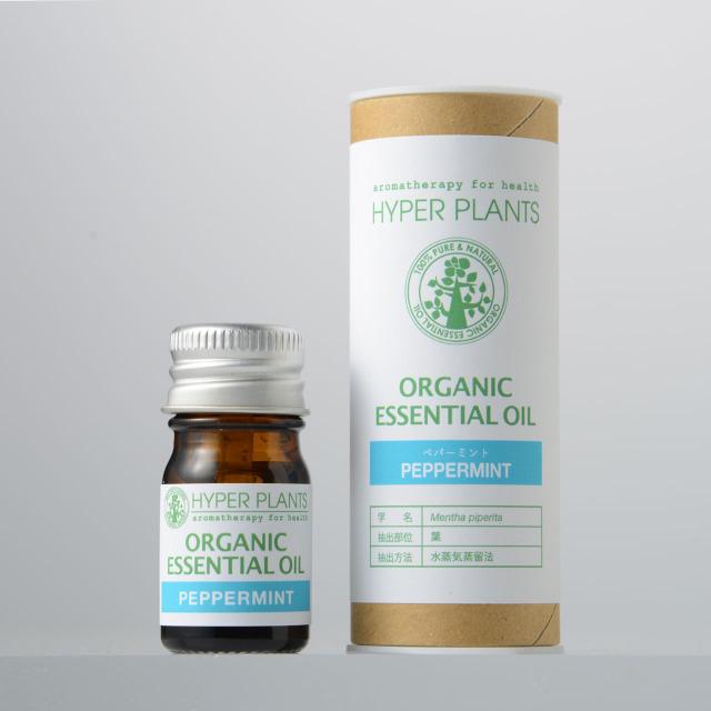 ハイパープランツ(HYPER PLANTS)オーガニックエッセンシャルオイル ペパーミント【5ml】