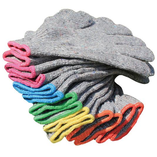 【古着を紡ぎなおして再利用】レインボー手袋(7ペアセット)【女性・子ども用】