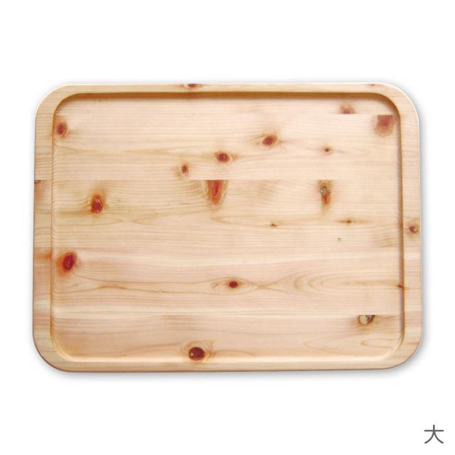 ひのき間伐材トレー 角型