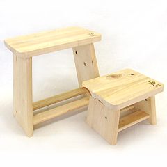 ヒノキ親子風呂椅子セット