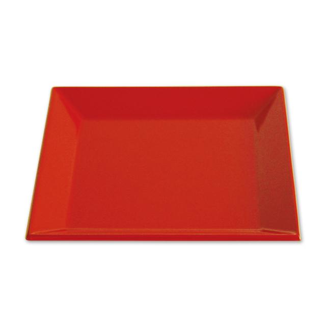 川連漆器 四方皿