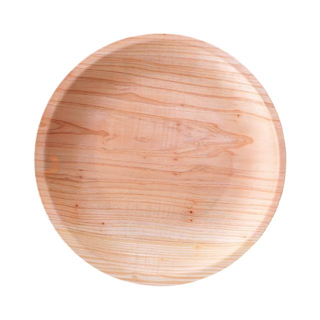 【大分県産スギ使用】間伐材を使った丸トレー【簡易トレー】
