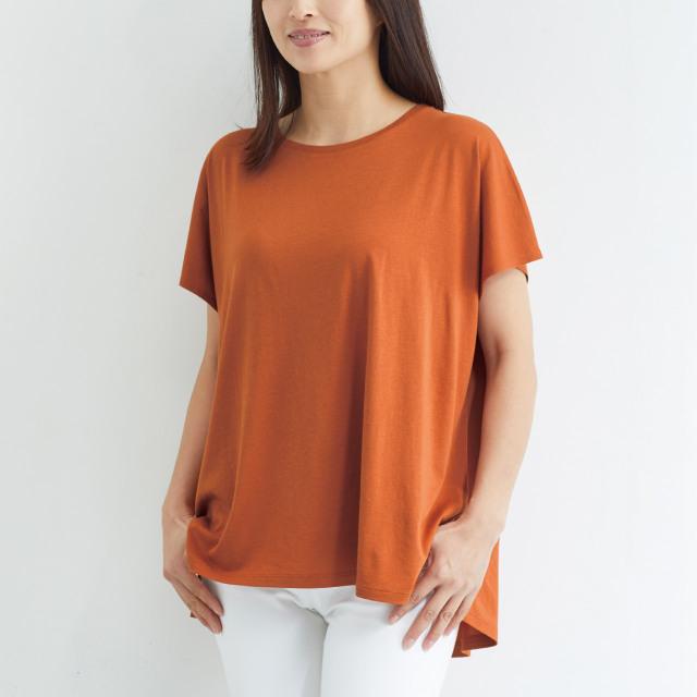 竹布スクエアフレンチTシャツ