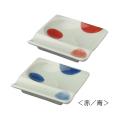【波佐見焼】重宝皿2枚セット・二色丸紋(赤・青・赤/青)【いろいろ使える】