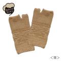 オーガニックコットン 雪柄パイル手袋
