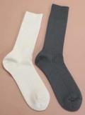 ささ和紙 靴下 メンズリブ 24-26cm