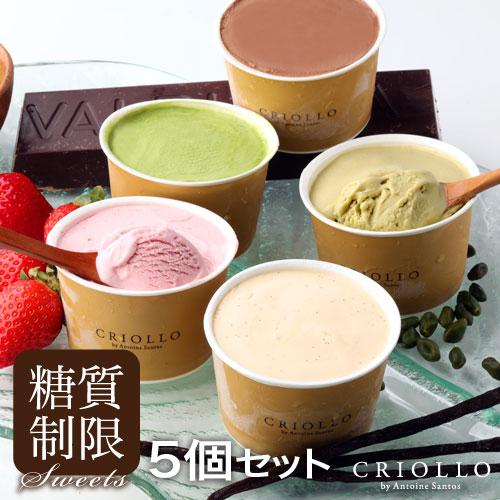 【送料込】糖質制限 スリムアイス5個セット(冷凍便)