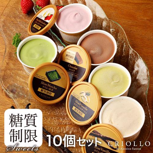 【送料込】糖質制限 スリムアイス10個セット(冷凍便)