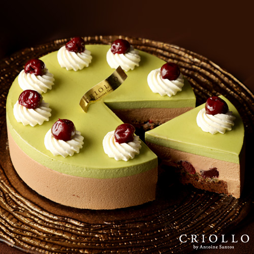 ディスカバリー ピスタチオ×さくらんぼ×チョコレートのケーキ 直径15cm【冷凍便】