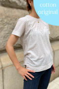 強撚天竺プリント半袖Tシャツ
