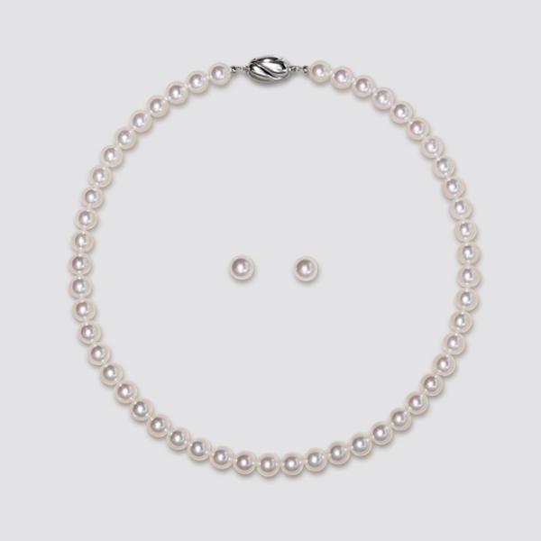 【セット商品】8.0−8.5mm あこや真珠2点セット