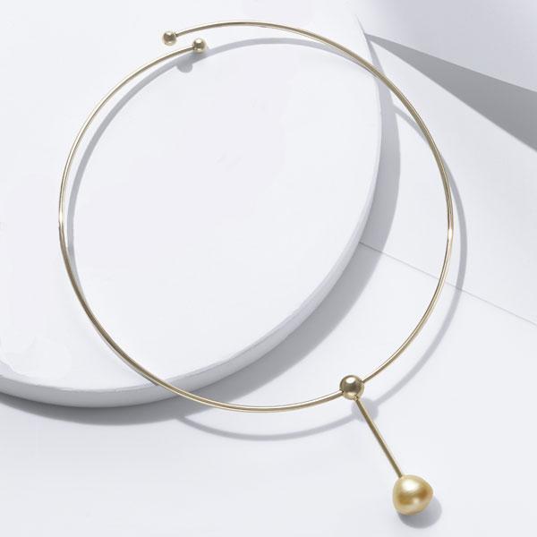 SV白蝶真珠デザインオメガネックレス