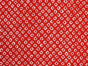 伝統的なちりめん生地 疋田文 鹿の子絞り 一目絞り 鹿の子しぼり かわいい赤色(0643-70)