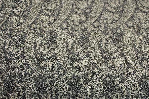 米沢織物 ラメジャガード 黒×金