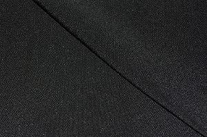 無地のレーヨンちりめん生地 縮緬生地 黒色・ブラック(0669-60)