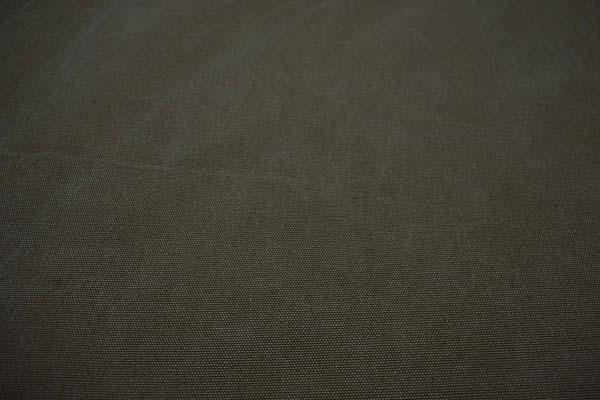 KINARI HOUSE 水洗い ヴィンテージ帆布 クラッシュ状のムラが入っています! ダークオリーブグリーン