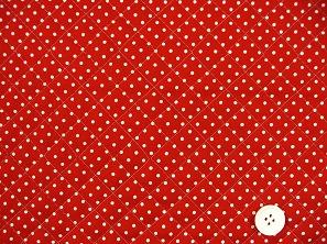 水玉模様(水玉柄・ドット柄)のキルティング生地(綿100%)赤色・レッド(1171-43)