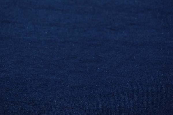 柔らかくて適度な厚さのある 綿麻キャンバス ワッシャー(洗い)加工 紺