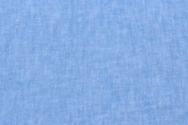 ベルギープルミエルリネン使用 ワッシャー加工のハーフリネンダンガリー 青×オフ