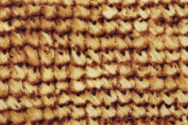 エコバッグや雨具に最適な ナイロンオックスフォード 編み模様 茶ベージュ