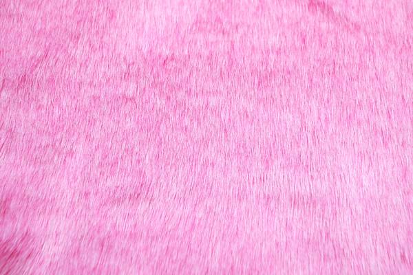 フェイクファー 毛足2.5cm前後 濃いめのベビピンク