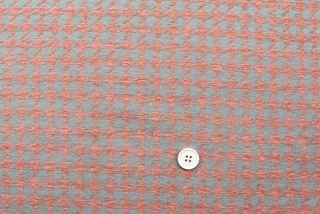 モールツイード千鳥格子服地 グレイ×ピンク 【50cm単位】  (4148-26)